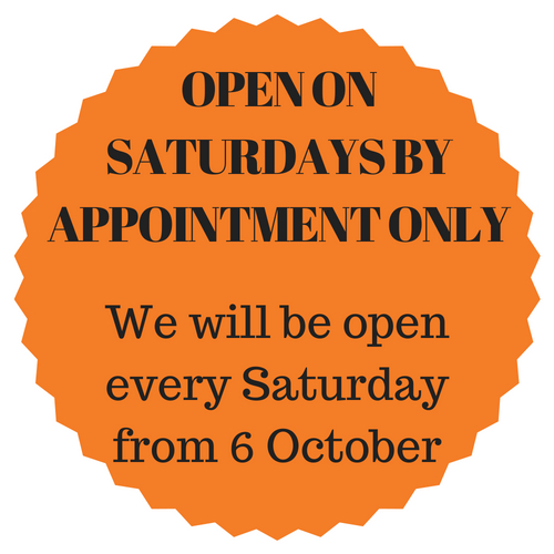 We are open on Saturdays